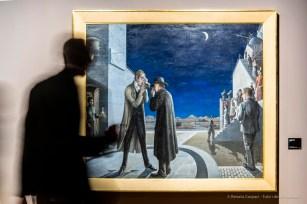 Paul Delvaux, Les phases de la lune III. Olio su tela 155 x 175 cm. Rotterdam, Museo Boijmans Van Beuningen