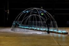 Mario Merz, Senza titolo, 1985. Installation view, Pirelli HangarBicocca 2018. Photo © Renato Corpaci Collezione Merz, Turin Courtesy Pirelli HangarBicocca, Milan Photo: © Renato Corpaci