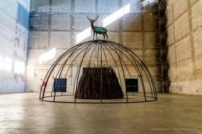 Mario Merz, Senza titolo, 1999. Installation view, Pirelli HangarBicocca 2018. Photo © Renato Corpaci