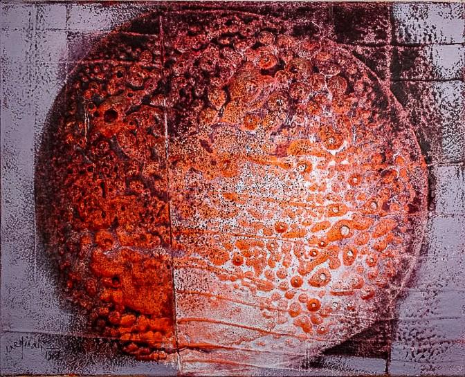 Franco Cardinali_Astre incinérée_1983_olio caseina e sabbia su tela_cm 80x100_ph. Luca Maccotta.jpg