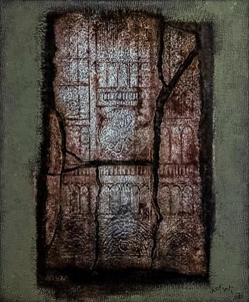 Franco Cardinali_Fragments de cathédrale_1983_olio caseina e sabbia su tela_cm 94x76_ph. Luca Maccotta.jpg