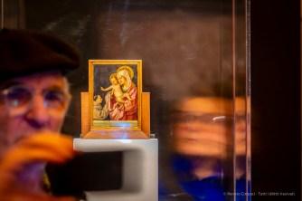 Antonello da Messina, Madonna con il Bambino e Santo Francescano in adorazione (verso) (1463 circa), tempera grassa su tavola; 15 x 10,7 cm. Messina, Museo Regionale Interdisciplinare di Messina