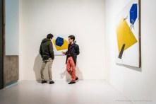 Emilio Tadini, Paesaggio di Malevič, 1971 acrilici su tela - acrylics on canvas, diverse misure