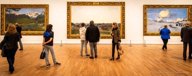 Veduta del trittico La Natura, La Vita, La Morte 1896‒1899 di Giovanni Segantini. LAC Lugano, marzo-luglio 2019