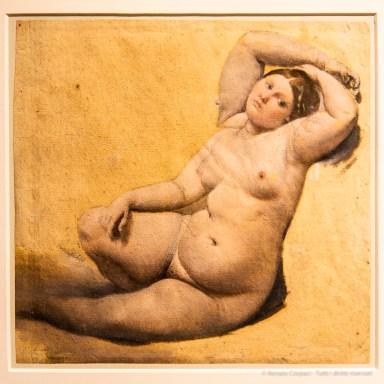 Jean-Auguste-Dominique Ingres La Femme aux trois bras 1816 – 1859 huile sur papier 24,9 25,9 cm. Musée Ingres, Montauban