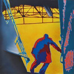 Giangiacomo Spadari, Metropolitana 1973. Acrilico su tela_cm 100 x 100_ph. Bruno Bani
