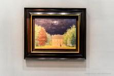 René Magrit, Le salon de dieu 1958. Oil on canvas 44 x 60 cm. Galleria d'Arte Maggiore. miart 2019