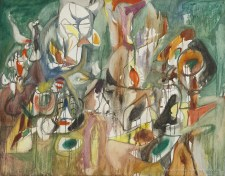 ARSHILE GORKY, One year the Milkweed, 1944. Oil on canvas, cm 94,2 x 119,3 . National Gallery of Art, Washington D. C.