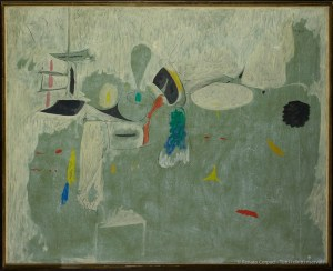 ARSHILE GORKY, The Limit, 1947 Oil on paper mounted on canvas, 128.9 x 157.5 cm . Arshile Gorky © 2018 The Arshile Gorky Foundation Artists Rights Society (ARS), New York†