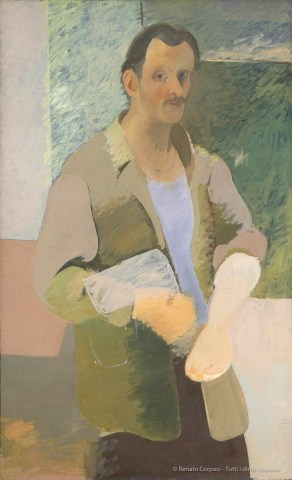 ARSHILE GORKY, em>Self-Portrait / Autoritratto ca. 1937. Oil on canvas, 141 x 86.4 cm. Private collection / Collezione privata Photo: Constance Mensh for the Philadelphia Museum of Art