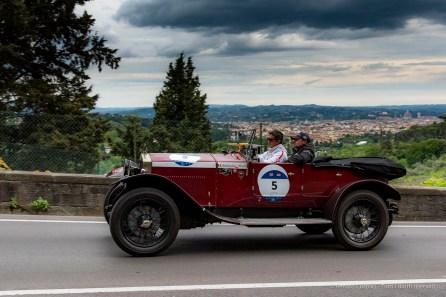Alberto Riboldi e Paolo Sabbadini, quarti classificati su una O.M. 665 S Superba 2000 (1926)