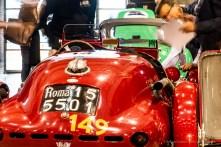 La GILCO MARIAN FIAT 1100 SILURO 1948 dell'equipaggio Michele CIBALDI e Andrea COSTA, ai controlli di conformità a Brescia