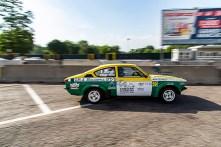"""Riccardo Canzian, terzo classificato nella categoria """"auto storiche""""con la Opel Kadett GT/E Gruppo 4 che divide con Margherita Potino"""