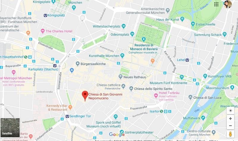 Cosa vedere a Monaco di Baviera : Chiesa di Asam