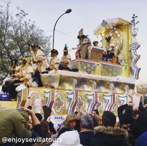 Natale a Siviglia carrozza della Cabalgata de Reyes