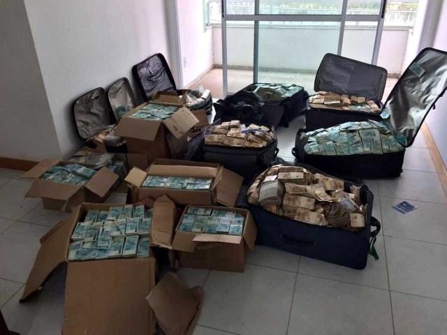 Dinheiro encontrado pela Polícia Federal