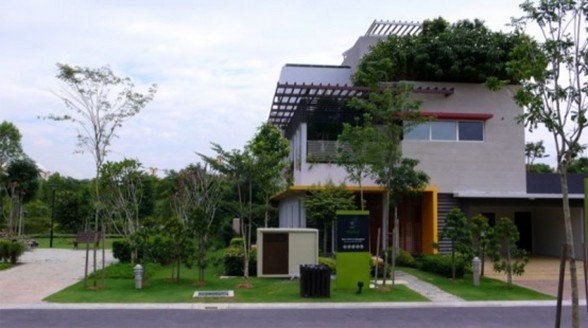 Great Tropical Houses in Urban Environment, Eco-Friendly Home Design in Malaysia - Architecture