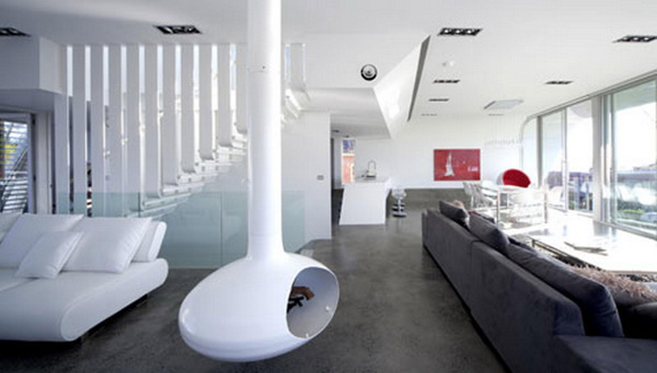 Future House Concept Moebius House From Tony Owen Partners Livingroom