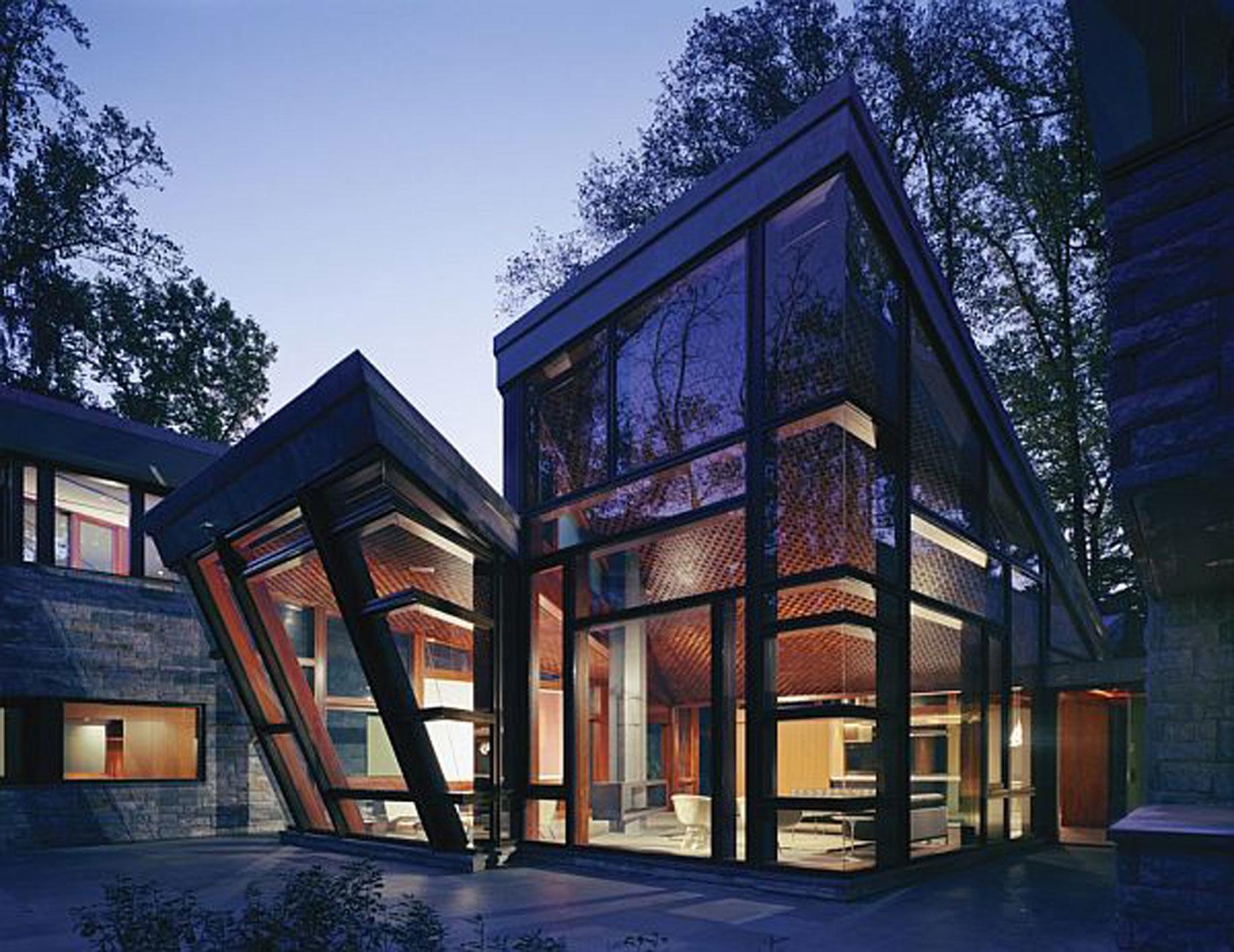Modern Glass House Design from David Jameson Architect ... on Modern Glass House Designs  id=38404