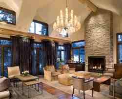 Astonishing Rustic Meets Modern Living Room Interior