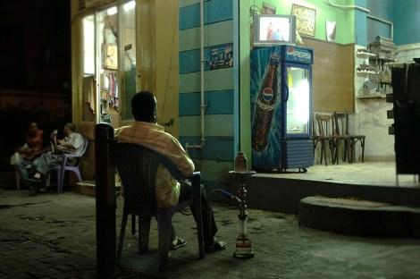 Cairo calle viendo la telewebExtension