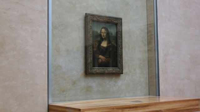 Mona Lisa en el Louvre.