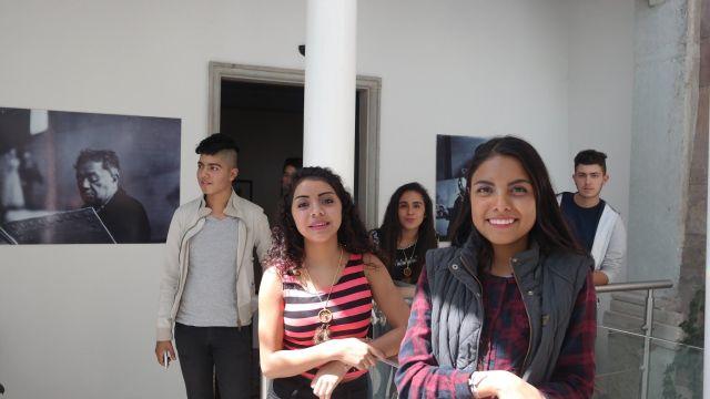Estudiantes en el Museo Casa Diego Rivera.