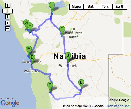 Ruta Namibia septiembre 2013
