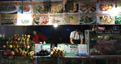 Comida callejera en Luang Prabang