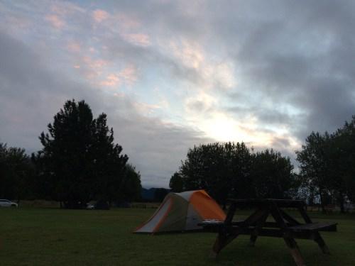 Nuestro campamento en Fox