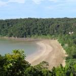 La playa de las instalaciones del parque desde el final del camino #1