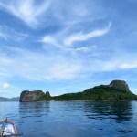 Isla helicóptero, primera parada de snorkeling