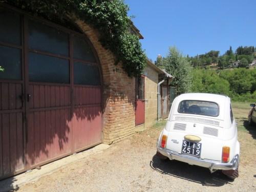 El Fiat 500 de nuestros anfitriones en Chiusi
