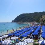 Las playas llenas de sombrillas