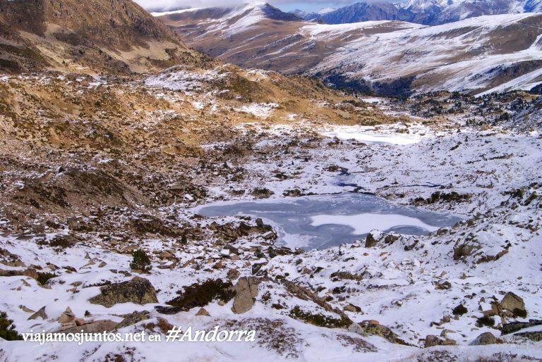 Vistas de Andorra, GRP en noviembre, Pirineo Oriental