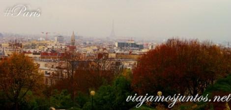 Vistas desde el parque de Belleville. París, Francia. Que ver y que hacer