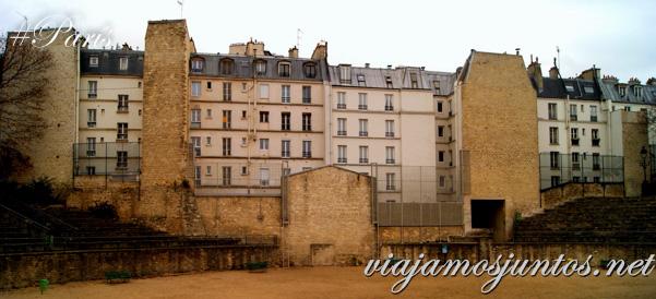 Un anfiteatro romano en mitad de la ciudad París, Francia. Que ver y que hacer