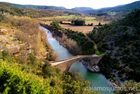 Vistas de la ruta Ruta circular Camping el Puente - Rodellar. Huesca, Aragón.