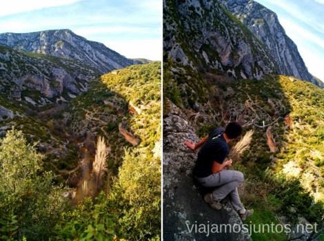 Barranco Mascún Ruta circular Camping el Puente - Rodellar. Huesca, Aragón.