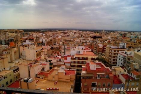 Elche desde las alturas Que ver y que hacer en Elche, Alicante, Valencia. Datos prácticos.