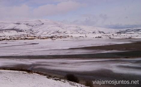 Paisajes congelados del pantano del Ebro El Sur de Cantabria, que ver y que hacer Lugares más desconocidos y sorprendentes