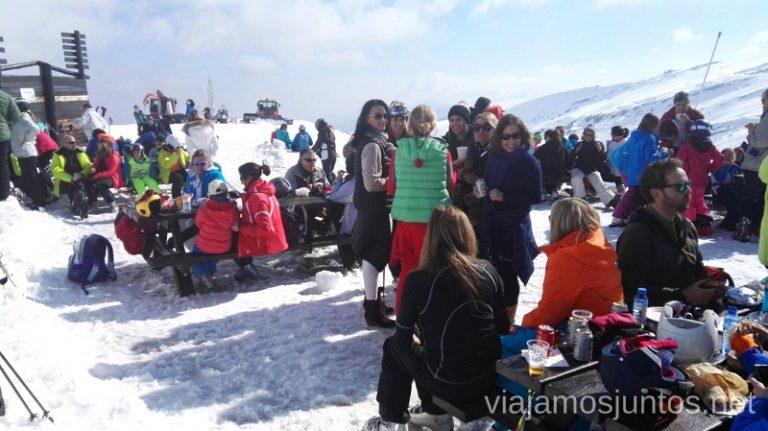 El Chivo a la hora de comer: BBB Buen precio, buena comida, bonitas vistas. Esquiar en Alto Campoo. Descripción de mi estación de esquí favorita de Cantabria