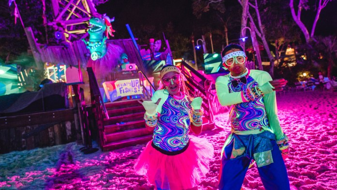 Dancers at H2O Glow Nights at Disney's Typhoon Lagoon