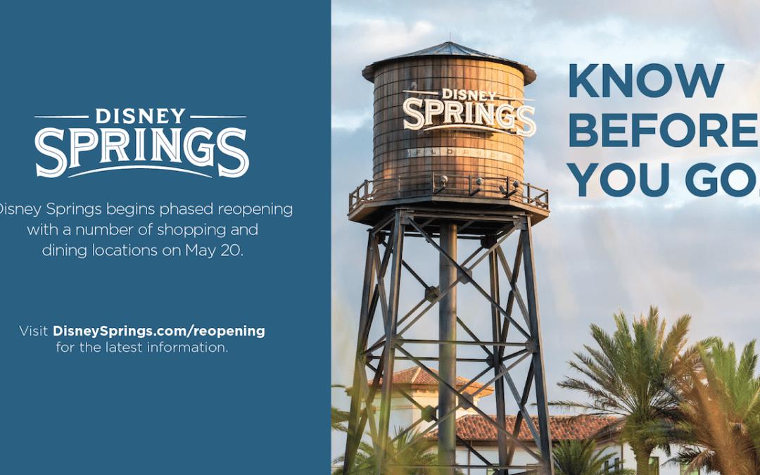Aqui está o que você precisa saber sobre a reabertura em fases de Disney Springs