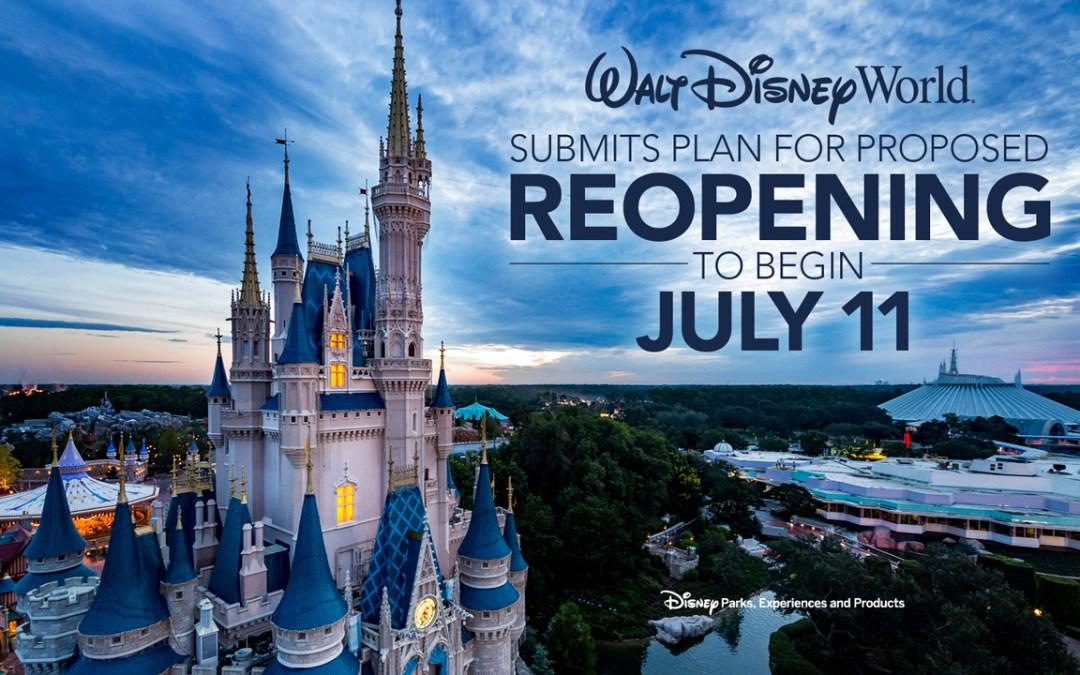 Mais informações sobre o plano de reabertura em fases do Walt Disney World Resort