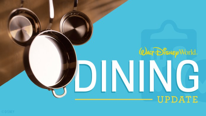 Walt Disney World Dining update graphic
