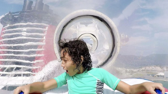 Kid on the AquaDuck