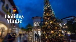 Detalhes das festividades de fim de ano em Disney Springs