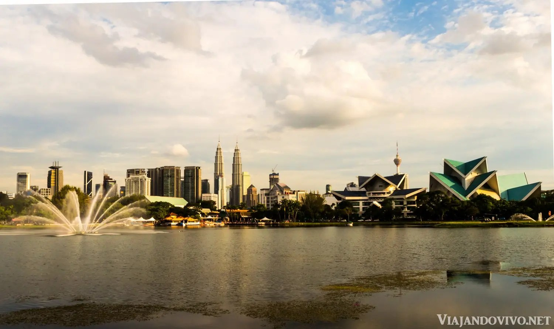 Kuala Lumpur desde el Parque Titiwangsa