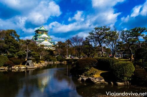 Los jardines que rodean al Castillo de Osaka
